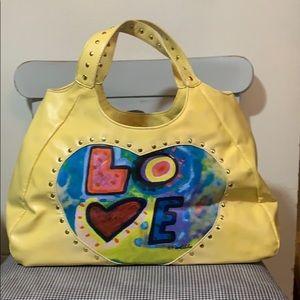 Susan Nichole yellow love handbag